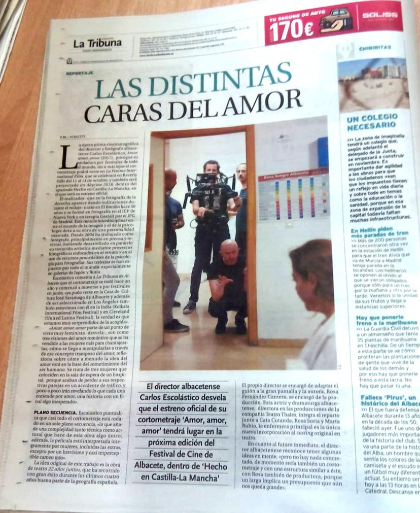 Amor, amor, amor - Diario La Tribuna - Carlos Escolástico